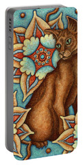 Tapestry Cat Portable Battery Charger