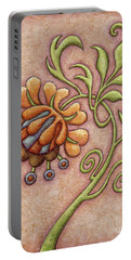 Tapestry Flower 10 Portable Battery Charger