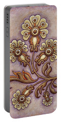 Tapestry Flower 4 Portable Battery Charger
