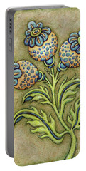 Tapestry Flower 6 Portable Battery Charger