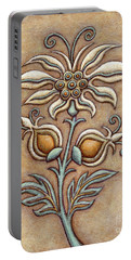 Tapestry Flower 9 Portable Battery Charger