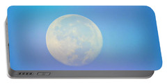 Portable Battery Charger featuring the photograph Taurus Almost Full Moon Blend by Judy Kennedy