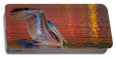 Portable Battery Charger featuring the photograph Tchefuncte Pelican by Tom Gresham