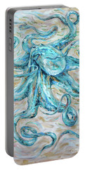 Teal Octopus Portable Battery Charger