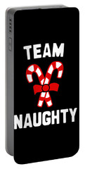 Portable Battery Charger featuring the digital art Team Naughty by Flippin Sweet Gear