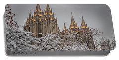 Temple In The Snow Portable Battery Charger
