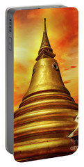 Thai Temple Sunset Portable Battery Charger