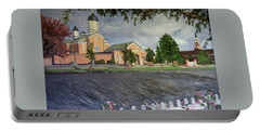 Thank Thee For The Church And The Temple  Vernal Utah Temple Portable Battery Charger