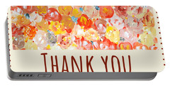 Portable Battery Charger featuring the painting Thank You #2 by Maria Langgle