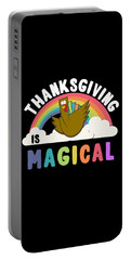 Portable Battery Charger featuring the digital art Thanksgiving Is Magical by Flippin Sweet Gear