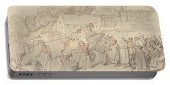 The Arrival Of A Company Of Militia At An Inn Portable Battery Charger