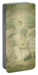 The Ballet Dancers Shabby Chic Vintage Style Portrait Portable Battery Charger