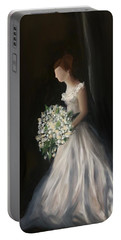 Portable Battery Charger featuring the painting The Big Day by Fe Jones