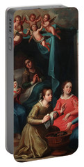 The Birth Of The Virgin Mary Portable Battery Charger