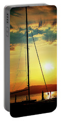 Portable Battery Charger featuring the photograph the Boat and the Sky by Milena Ilieva