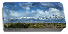The City Of Bariloche Surrounded By Mountains Portable Battery Charger