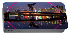 Portable Battery Charger featuring the photograph The Clyde Arc Reflected by Stephen Taylor