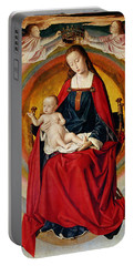 The Coronation Of The Virgin, Detail From The Bourbon Altarpiece Portable Battery Charger