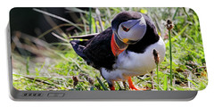 The Curious Puffin - Staffa - Scotland Portable Battery Charger