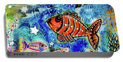 The Day The Stars Fell Into The Ocean Portable Battery Charger