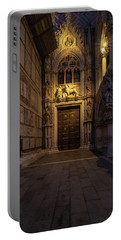 Portable Battery Charger featuring the photograph The Doge's Door. by Tim Bryan