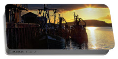 The Fishing Boats Of Oban - Scotland - Sunset Portable Battery Charger