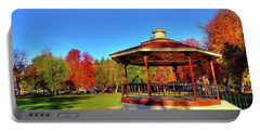Portable Battery Charger featuring the photograph The Gazebo At Reaney Park by David Patterson