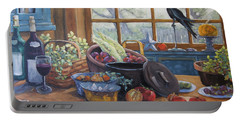 The Good Harvest Country Kitchen By Richard Pranke Portable Battery Charger