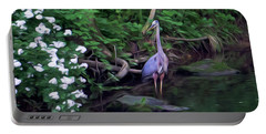 The Great Blue Heron - Impressionism Portable Battery Charger