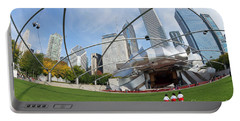 The Great Lawn, Trellis, Bandshell And Jay Pritzker Pavilion, Ch Portable Battery Charger