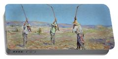 The Haymakers - Pierre Van Dijk 70x90cm Oil Portable Battery Charger