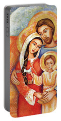 Portable Battery Charger featuring the painting The Holy Family by Eva Campbell