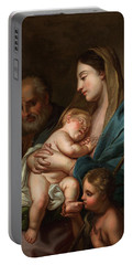 The Holy Family With John The Baptist Portable Battery Charger