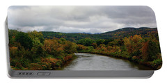 Portable Battery Charger featuring the photograph The Housatonic River From A Bridge In Adams Ma by Raymond Salani III