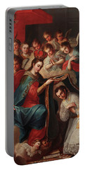 The Imposition Of The Chasuble To San Ildefonso Portable Battery Charger