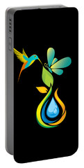 The Kissing Flower And The Butterfly On Flower Bud Portable Battery Charger