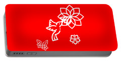 The Kissing Flower On Flower Portable Battery Charger