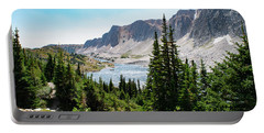 Portable Battery Charger featuring the photograph The Lakes Of Medicine Bow Peak by Nicole Lloyd