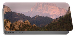 Portable Battery Charger featuring the photograph The Last Of The Light At Pena Montanesa by Stephen Taylor