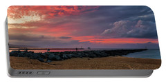 The Last Sunrise Of 2018 Portable Battery Charger