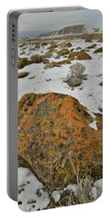 The Lichen Covered Boulders Of The Book Cliffs Portable Battery Charger