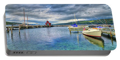 Portable Battery Charger featuring the photograph The Marina At Seneca Lake - Finger Lakes, New York by Lynn Bauer