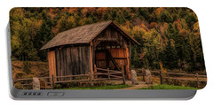 The Martin Covered Bridge In Marshfield Vt. Portable Battery Charger