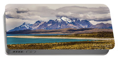 The Mountains Of Torres Del Paine National Park, Chile Portable Battery Charger