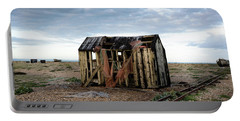 Portable Battery Charger featuring the photograph The Net Shack, Dungeness Beach by Perry Rodriguez