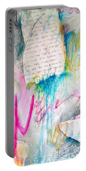 Portable Battery Charger featuring the painting The Other Half Of My Heart by Tracy Bonin