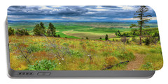 Portable Battery Charger featuring the photograph The Path Down Kamiak Butte by David Patterson