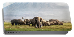 The Patriarch Of Amboseli Portable Battery Charger