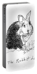 The Rabbit Lady Drawing Portable Battery Charger