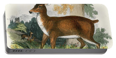 The Red Deer  Engraving 19th Century Portable Battery Charger